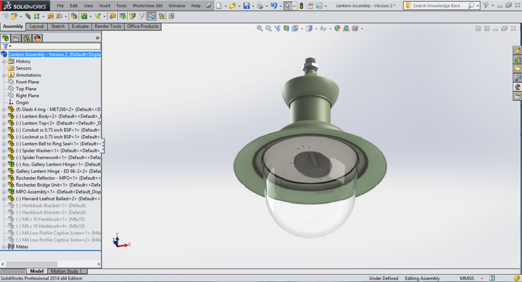 3D CAD Screen